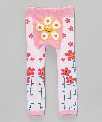 Doodle Pants Pink Flower Leggings
