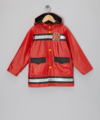 Red 'Fire' Raincoat - Infant & Toddler