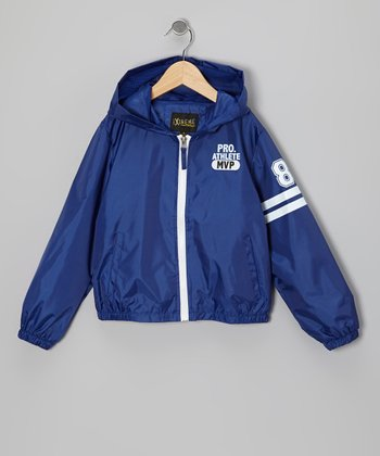 Royal Blue 'Pro Athlete' Raincoat - Boys