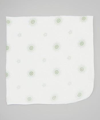 Sage Lotus Flower Double-Layer Organic Swaddling Blanket