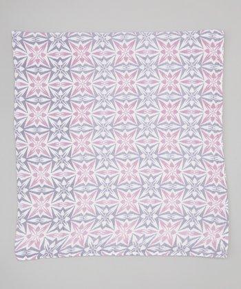 Purple Geometric Organic Muslin Swaddling Blanket
