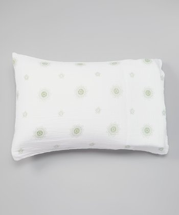 White & Sage Lotus Flower Organic Pillowcase