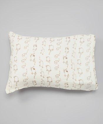 White & Brown Farm Animals Organic Pillowcase