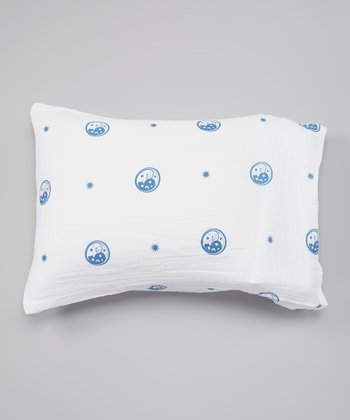 White & Blue Moon Organic Pillowcase