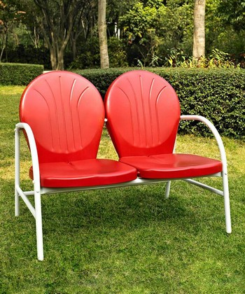 Red Griffith Love Seat