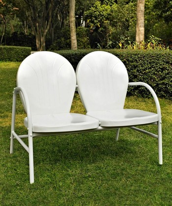 White Griffith Love Seat