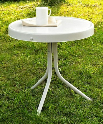 White Griffith Side Table