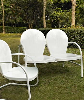 White Griffith Three-Piece Seating Set