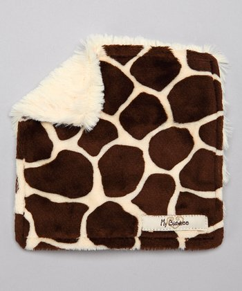 Butter Brown Giraffe Velour Crinkleez Lovey