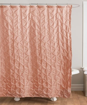 Peach Lake Como Shower Curtain
