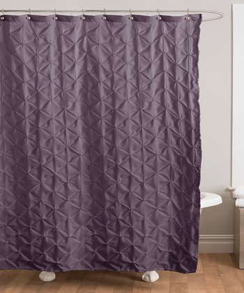 Purple Lake Como Shower Curtain