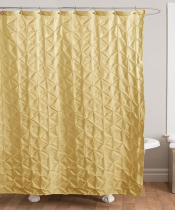 Yellow Lake Como Shower Curtain