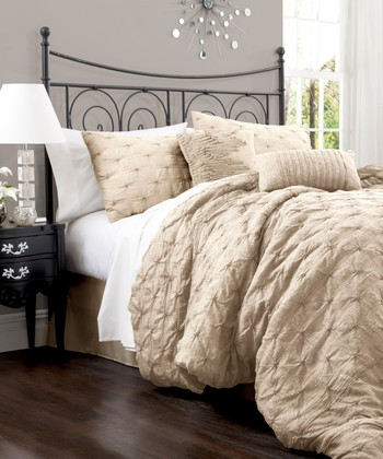 Taupe Lake Como Comforter Set