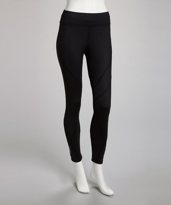Black Running Capri Pants