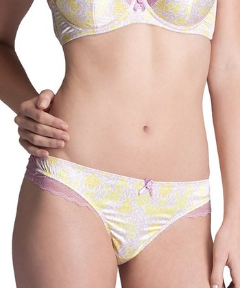 Lemon & Dusty Rose Zoe Bikini Briefs - Women