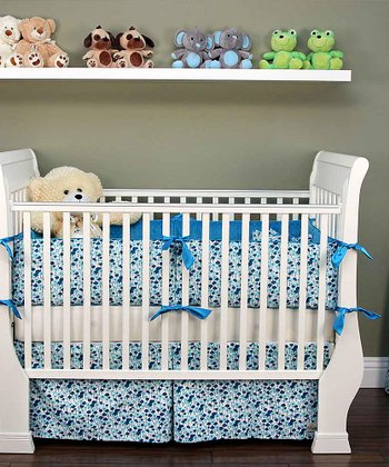 Aqua Pick a Bunch Crib Bedding Set