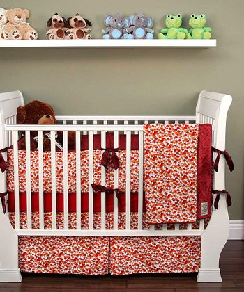 Burgundy Pick a Bunch Crib Bedding Set