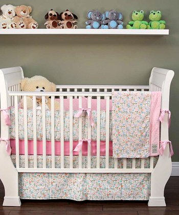 White Daisy Crib Bedding Set