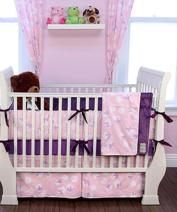 Lavender Garden Pastel Crib Bedding Set