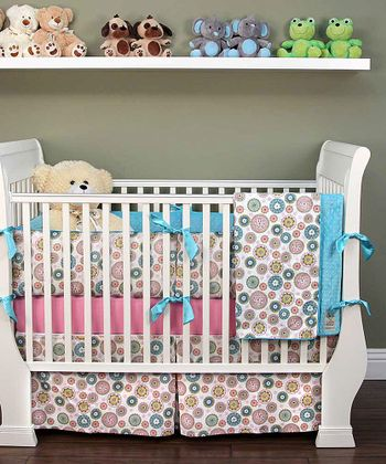 White Penny Lane Crib Bedding Set