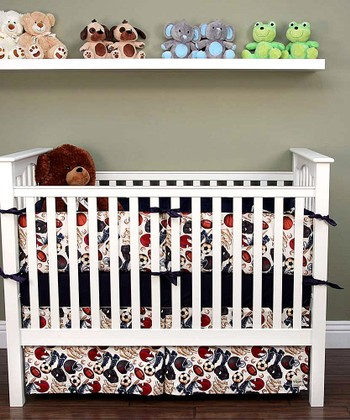 Red Play Ball Crib Bedding Set