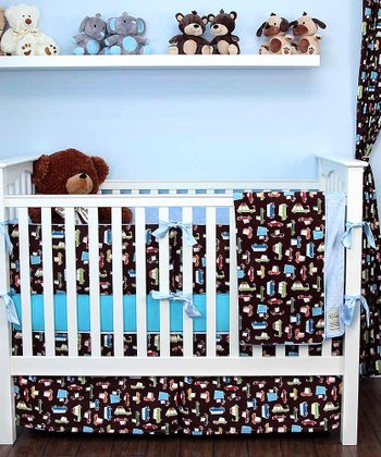 Brown Road Trip Crib Bedding Set