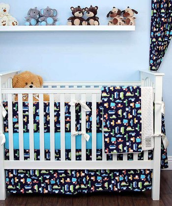 Navy Road Trip Crib Bedding Set