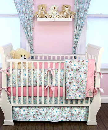Blue Sweet Divinity Crib Bedding Set