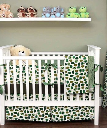 Olive Green Turtle Crib Bedding Set