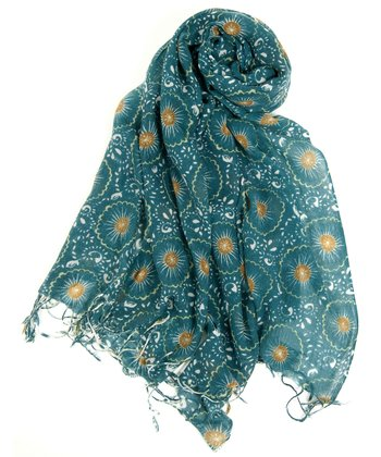 Teal Thistle Scarf