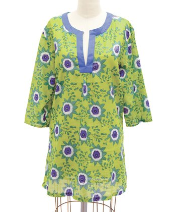 Green Passion Flower Tunic