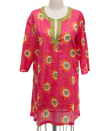 Pink Passion Flower Tunic