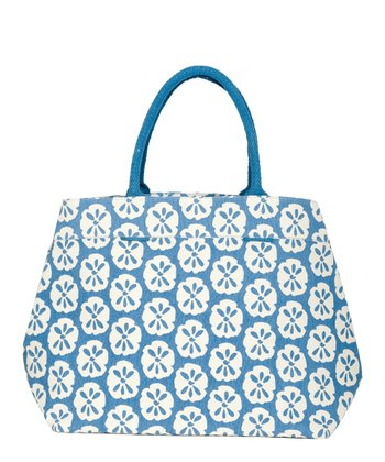 Blue Sand Dollar City Tote