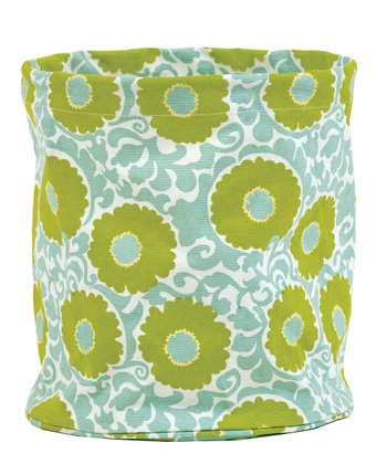 Mint Imperial Rosette Canvas Basket