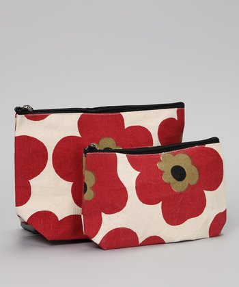 Red Pansy Chili Zip Bag Set