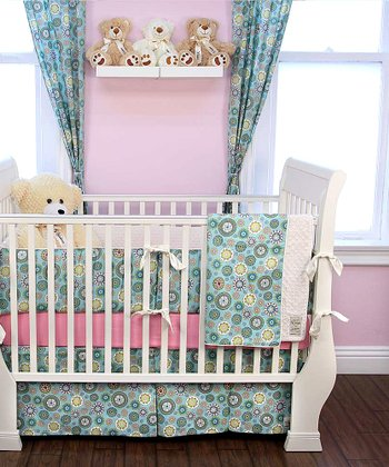 Blue Penny Lane Crib Bedding Set