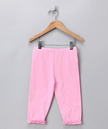 Pink Ruffle Leggings - Toddler & Girls