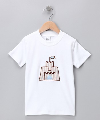 White Sandcastle Tee - Infant, Toddler & Boys