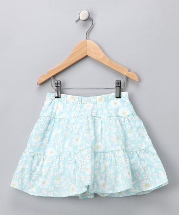 Blue Floral Skort - Infant & Girls