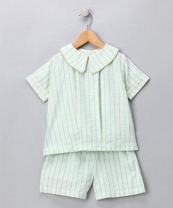 Blue Seersucker Top & Shorts - Infant & Boys