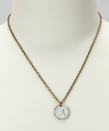 White Initial Pendant Necklace