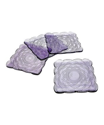 Amethyst Dessert Plate - Set of Four