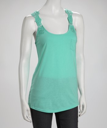 Vanity Green Crochet Racerback Top