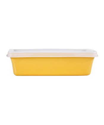 Yellow 16-Oz. Covered Baker