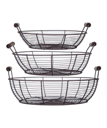 French Round Basket Set