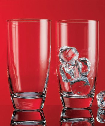 Round Highball Drinking Glass - Set of Four