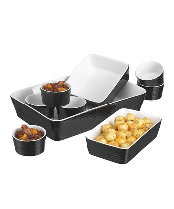 Black Nine-Piece Bakeware Set