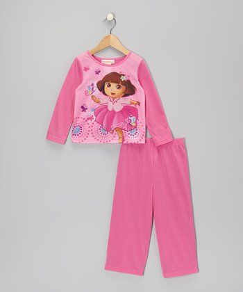Pink Dora Ballet Pajama Set - Infant