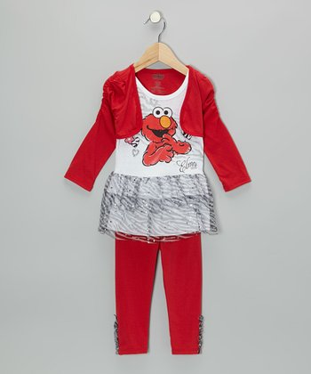 Red Elmo Tutu Tunic & Leggings