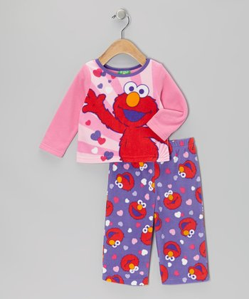 Pink & Purple Elmo Pajama Set - Infant & Toddler